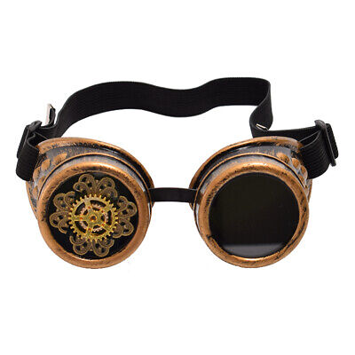 Steampunk Gear Pattern Goggle Cosplay Vintage Victorian Party Aviator Goggle