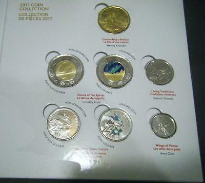 2017 Canada 150th Anniversary Collector 7 Coin Set $2 $1 25c 10c 5c Card Holder