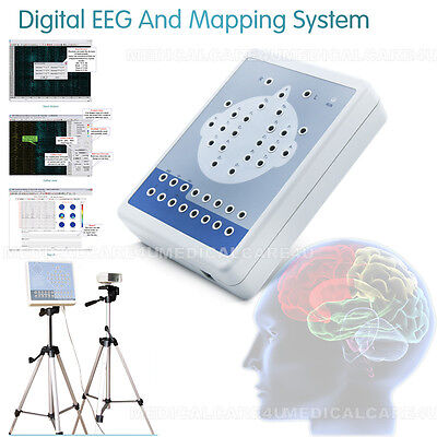 16 channel Digital Brain Electric Activity EEG  Machine Mapping System+Software