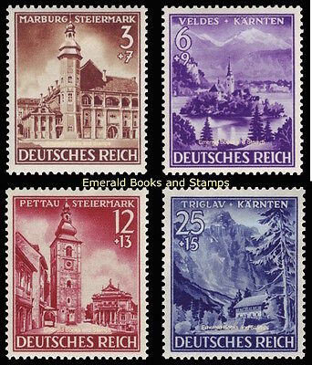 EBS Germany 1941 Annexation of Styria and Carinthia Michel 806-809 MH*