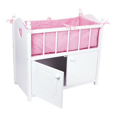Dolls Bed with Cupboard 58x54cm Dollhouse Furniture Wood Accessories