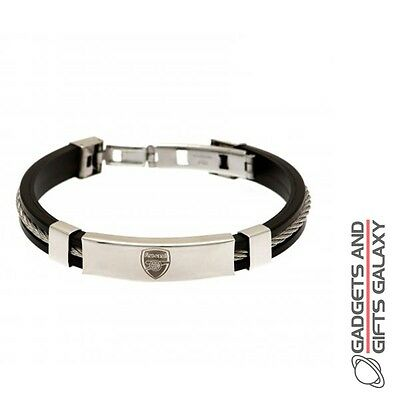 OFFICIAL ARSENAL FOOTBALL CLUB BRACELET STEEL CLASP JEWELLERY Sporting goods acc