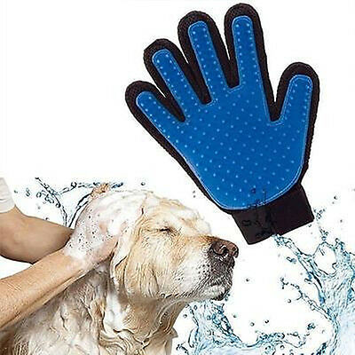 True Touch Glove Pet Cat Dog Grooming Massage Hair Remover Fur Bath Brush Clean
