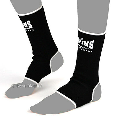 Twins Special Muay Thai Black Ankle Supports