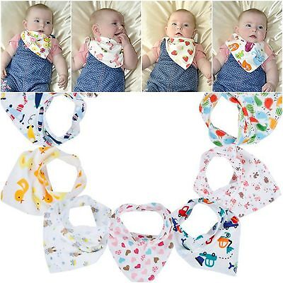 Bebedou 10 PACK GIRLS Pure Cotton Stylish Bandana Dribble Bibs New gift organics