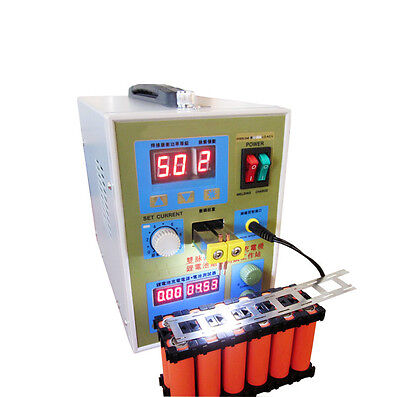 Canada LED Dual Pulse Spot Welder 18650 Battery Charger 800 A 0.1 - 0.2 mm 36V
