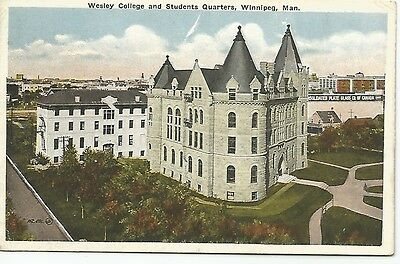Winnipeg, Man. **Wesley College and Students Quarters **