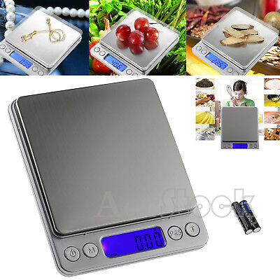 Digital LCD 0.01-500g Electronic Balance Scale Kitchen Food Weight Postal Scales