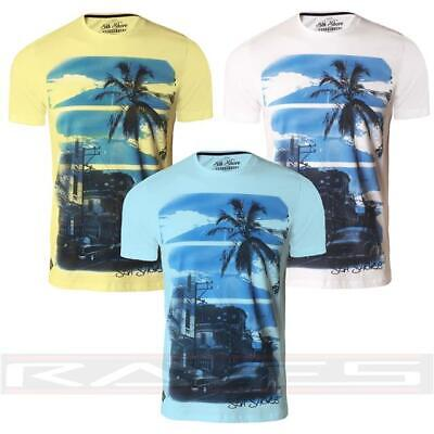 Men's T-shirt Printed Graphic Top Short Sleeve Tee OLD TOWN Sth Shore 1C9451