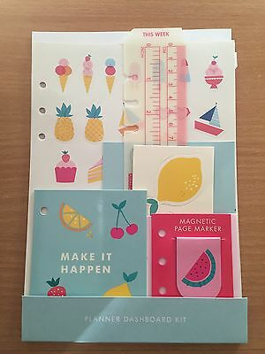 Kikki K LARGE CUTE planner dashboard kit diary rare BRAND NEW