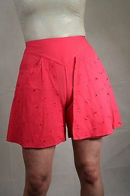 Genuine Vintage 80's High Waist Shorts Summer Festival Blogger Size 6 To 8