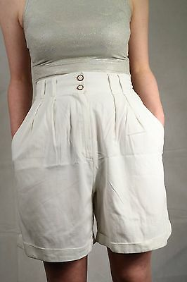 Genuine Vintage 80's High Waist Shorts Summer Festival Blogger Size 10 To 12