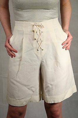 Genuine Vintage 80's High Waist Shorts Summer Festival Blogger Size 8 To 10