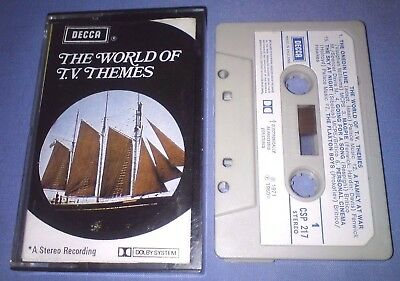 THE WORLD OF T.V. THEMES PAPER LABELS classical music cassette T3761
