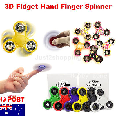 3D Fidget Hand Finger Spinner EDC Focus Stress Reliever Toys Kids Adults Camo