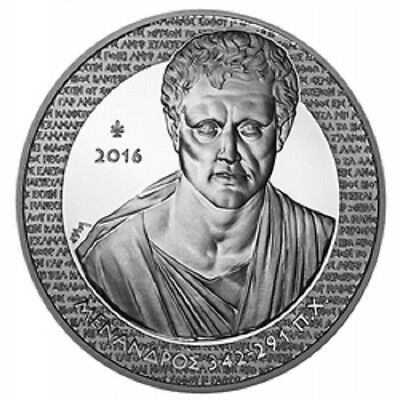 "2016 Greece 10 Euro Silver Proof Coin ""Greek Culture: Menander (Menandros)"""