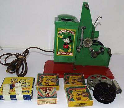 """Ex!disney1934 Mickey Mouse """"keystone""""movie Projector Set+16Mm Boxed Films+More"""