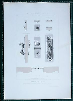 1880 French Architecture Print Style Henri Iii Hotel D'assezat Toulouse