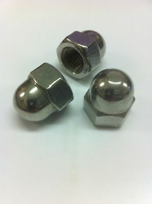 M4,5,6,8 & 10mm Dome nuts stainless steel A4 (Marine Grade)