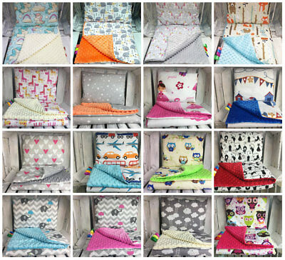 Fashion by DUDA BLANKET (75X100CM)  & PILLOW SET Baby bedding cot pram MINKY