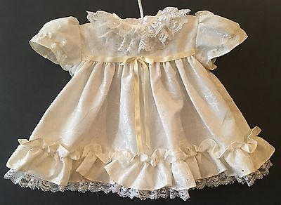 Vintage Tagged Cutest One Toddlers Girls Dress 12 Months w/ Lace & Ruffles