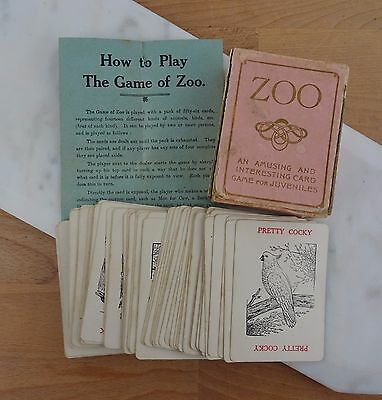Vintage ZOO Card Game An Amusing & Interesting Card Game for Juveniles