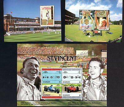 St. Vincent Grenadines 1988 Cricket & Tennis Two Miniature Sheets Unmounted Mint