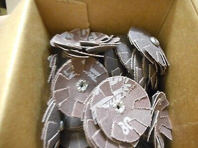 """100 Merit 1-3/4"""" Overlapped Discs, 80 ARB Grit With 8-32 Eye. FREE SHIPPING!"""