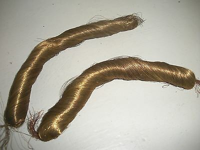 Two Thick Hanks Antique Fine Gold Wire Thread ~Church Provenance~
