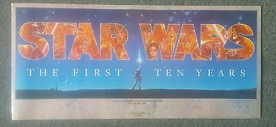 Star Wars The First Ten Years Original Poster Signed Numbered/498 By John Alvin
