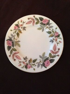 Bread Plate - Wedgwood Hathaway Rose China Gold *multiples available*