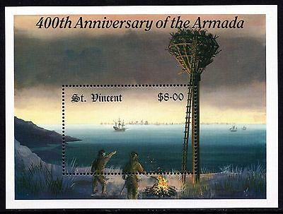 St.Vincent Grenadines 1988 400th Anniversary of the Armada Miniature Sheet MNH