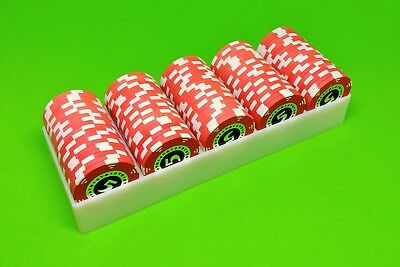 10 White Poker Chip Trays - Casino Chip Racks - Each Holds 100 Chips - Brand New