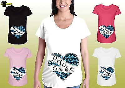 Funny Maternity Shirts Graphic Pregnancy Tee Prince Boy Maternity Designed Shirt