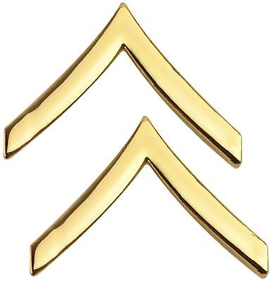 Tactical 365 Pair of Private Rank Insignia Pins | Gold, Nickel