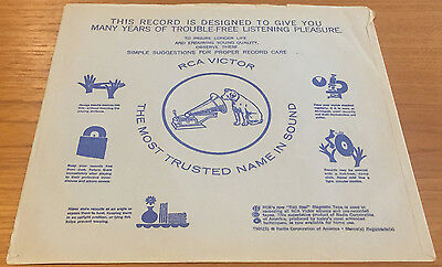 LP RCA Inner Sleeve 21-112-1-33A P&RS Only No Record Nipper Dog Phonograph Logo