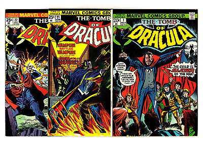 The Tomb of Dracula #7, 21-23, 25, 27 (1974) Marvel High Grade Lot