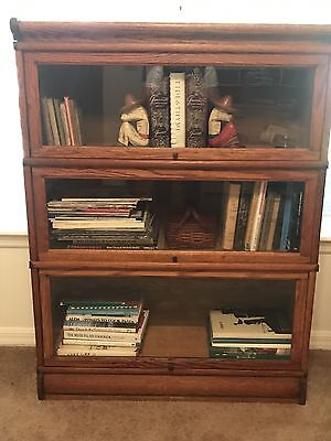 Antique Macey 3 Section Stacking Oak Bookcase - oak - I've owned it for 45 years