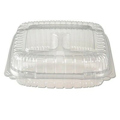 Dart C57PST1 ClearSeal Hinged-Lid Plastic Containers 6x5 4/5x3 Clear, 625ct