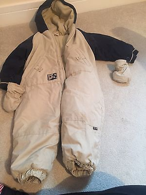 Adams Snowsuit Age 18-24 Months. Hood With Detachable Gloves Good Condition