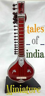 Miniature Sitar~Decorative Collectible~Baby Sitar~Handmade for Music Lovers