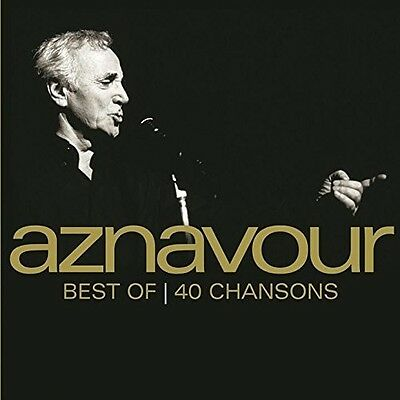 Best Of 40 Chansons - 2 DISC SET - Charles Aznavour (2016, CD NUOVO)
