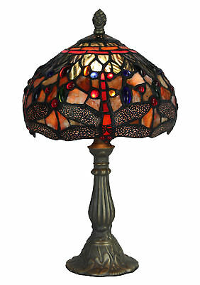 NEW Leadlight Dragonfly Table Lamp