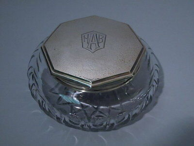International / Watrous Powder Jar - Art Deco - American Sterling & Glass