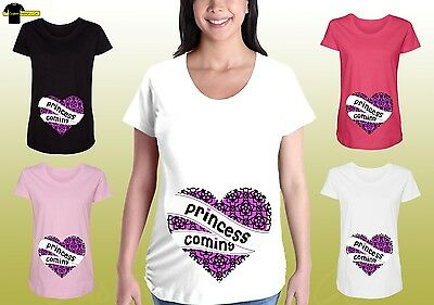 Maternity Graphic Shirts Pregnancy Funny Tee Cute Maternity Clothes Princess Tee