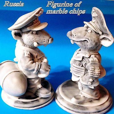 Rats Nazi military Warlord army Colonel marble chips Figurine Souvenirs Russia