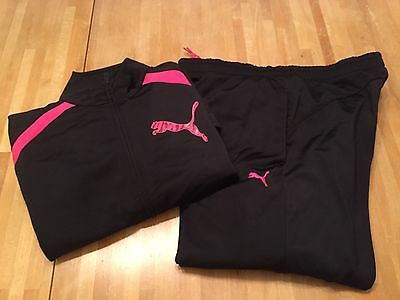 girls gymnastics Puma tracksuit age 7-8 ideal back to school Free Postage