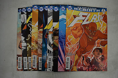 Flash DC Rebirth Comic Books 10 Lot 1 2 3 4 5 6 7 8 10 19 NM Godspeed Variant