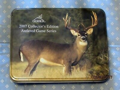 Gerber 2007 Collector's Edition Antlered Game Series Knife Set New In Tin Box