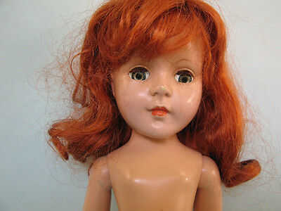 1950's  American Character 35 cm.  Hard Plastic Sweet Vintage  Doll Marked A.C.